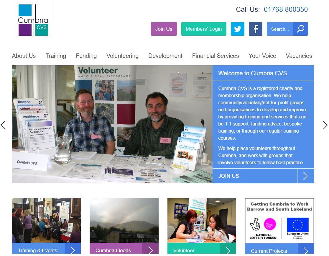 Cumbria CSV Charity Web Design Project