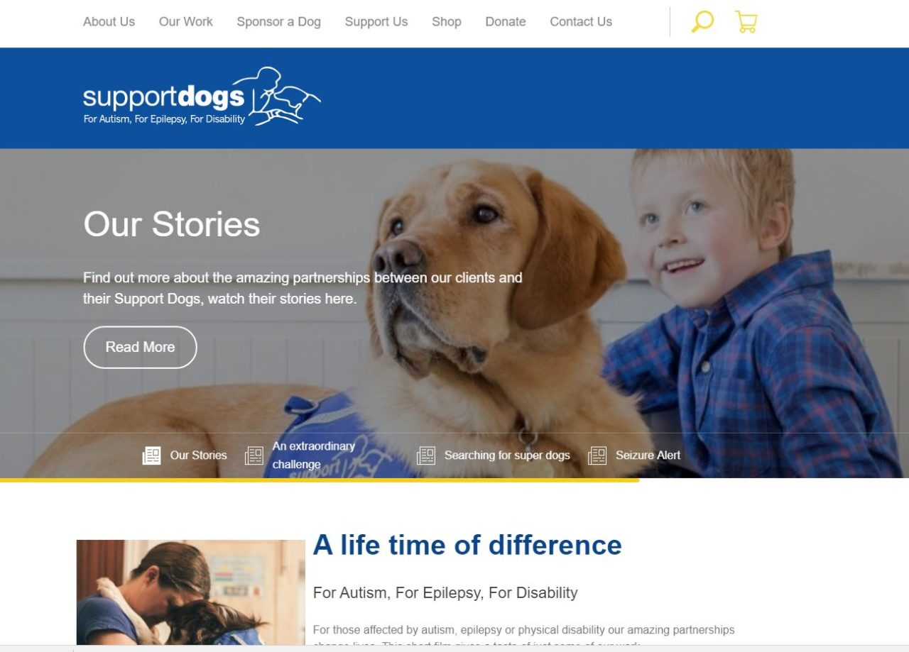 Support Dogs Web Design Project